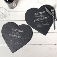 Image of Engraved Set Of Slate Placemats - Eating Together