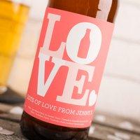 Personalised Beer - LOVE - Beer Gifts