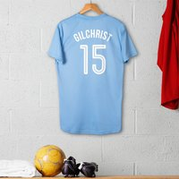 Personalised Adult Official Manchester City Football Top - Football Gifts