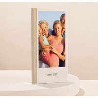 Photo Upload Slim Diary - Canvas Design - Diary Gifts