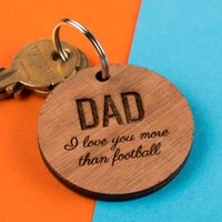Personalised Wooden Key Ring - Any Message - Key Ring Gifts