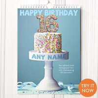 Personalised 16th Birthday Calendar - 16th Birthday Gifts