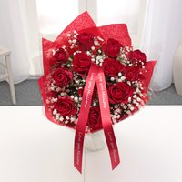 Personalised Dozen Red Rose Bouquet - Personalised Gifts Gifts