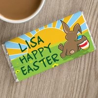 Personalised Chocolate Bar - Happy Easter Sunset