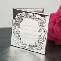 Antique Style Compact Mirror with Photo Frame - Photo Frame Gifts
