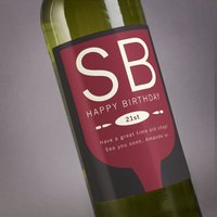 Personalised Wine - 21st Birthday Glass - 21st Gifts