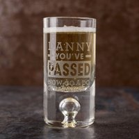 Personalised Shot Glass with Miniature - You've Passed - Shot Glass Gifts