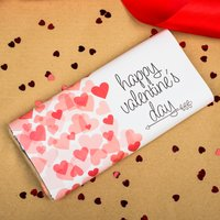 Personalised Chocolate Bar - Valentine's Day Hearts