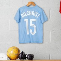 Personalised Childrens Official Manchester City Football Top - Football Gifts