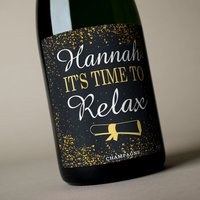 Luxury Personalised Champagne - It's Time To Relax - Relax Gifts