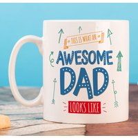 Personalised Mug - Awesome Dad - Cutlery Gifts