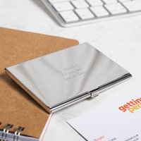 Engraved Business Card Holder - Business Gifts