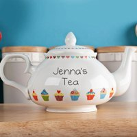 Personalised Bone China Teapot - Pretty As A Cupcake - Teapot Gifts