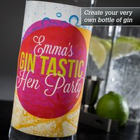 Personalised Gin - Gin Tastic Hen Party - Hen Night Gifts