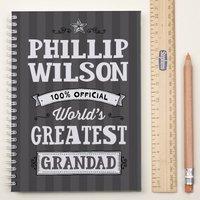 Personalised Notebook - World's Greatest Grandad - Grandad Gifts