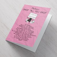 Personalised Card - Shop Till You Drop - Shop Gifts