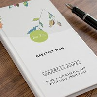 Personalised Address Book - Floral - Book Gifts