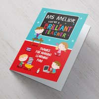 Personalised Card - Thanks For Making Learning Fun - Fun Gifts