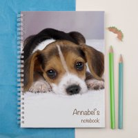 Personalised Notebook - Cute Puppy Face - Puppy Gifts