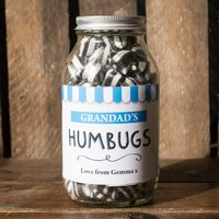 Personalised Jar Of Humbug Sweets - Sweet Shop - Shop Gifts