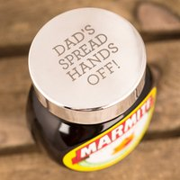 Personalised Silver-Plated Preserve Lid - Marmite Gifts
