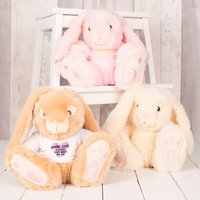 Image of Personalised Bunny With T-Shirt - Loves