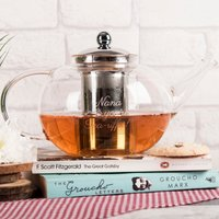 Personalised Glass Teapot - Tea-riffic - Teapot Gifts