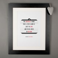 Personalised Favourite Film Cinema Print - Cinema Gifts