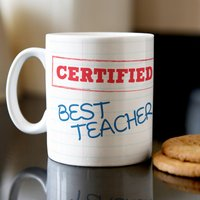 Personalised Mug - Teacher Graph Paper - Teacher Gifts