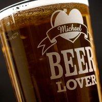 Personalised Pint Glass - Beer Lover
