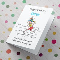Personalised Card - Birthday Exercise - Exercise Gifts