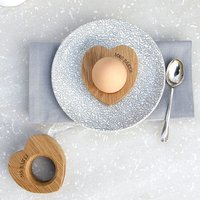 Personalised Heart-Shaped Egg Cups - Cups Gifts