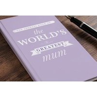 Personalised Address Book - The World's Greatest Mum - Book Gifts