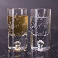 Personalised Set Of 2 Shot Glasses - Shot Glasses Gifts