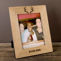Personalised Wooden Photo Frame - Stag - Stag Gifts