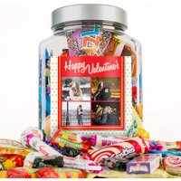 Photo Upload Retro Sweet Jar - Happy Valentine's, 4 Photos