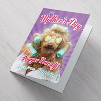 Personalised Mother's Day Card - Pamper Yourself - Pamper Gifts