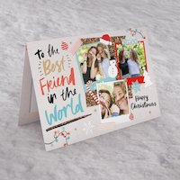Photo Upload Christmas Card - Best Friend In The World - Friend Gifts