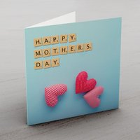 Tiles & Hearts Mother's Day Card - Mothers Day Gifts