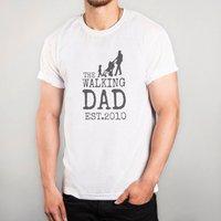 Personalised White T-Shirt - The Walking Dad - Walking Gifts