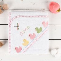 Personalised Hooded Towel for Girls - Towel Gifts