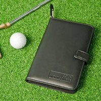 Leather Golf Score Card Holder & Pen Set