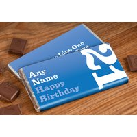 Personalised Chocolate Bar - 21st Birthday for Him - 21st Gifts
