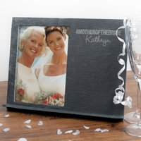 Personalised Slate Chalkboard Photo Frame - Mother Of The Bride