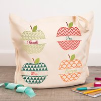 Personalised Tote Bag - Teacher Apples - Teacher Gifts