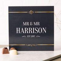Personalised Belgian Chocolates - Black & Gold, Couple - Chocolates Gifts