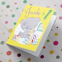 Personalised Me To You Card - 1st Birthday - Baby Blocks - Me To You Gifts