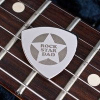 Engraved Guitar Plectrum - Rock Star Dad - Music Gifts