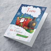 Personalised Christmas Card - Santa Train - Train Gifts