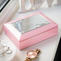 Personalised Pink Musical Jewellery Box - Musical Gifts